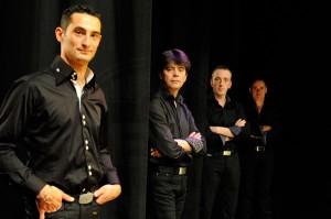Portraits d'artistes avant le concert et photos de plateaux sur scène groupe Arbadétorne le 26/11/2011